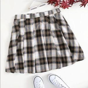 Shein plaid pleaded skirt